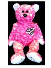 I Love Lucy Bear Pink with Hearts