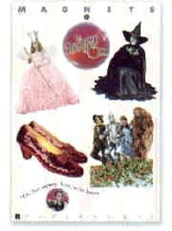 Wizard Of Oz 4 Piece Magnet Set Witches And Ruby Slippers