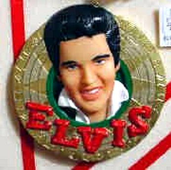 Elvis Close Up On Record Ornament