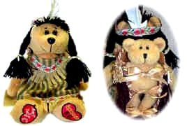 I Love Lucy Indian Bear W/Little Ricky Papoose
