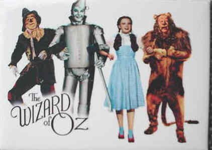 Wizard Of Oz Magnet - Group Shot On White - Arm In Arm