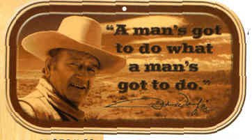 John Wayne Magnetic Mini Tin Sign