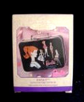 Hallmark 1999 Barbie Mini Lunchbox 40th Anniversary Christmas Ornament