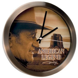 John Wayne Metal Clock