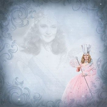 Wizard Of Oz Scrapbooking Paper Glinda Scene
