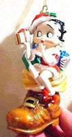 Betty Boop In Shoe Ornament
