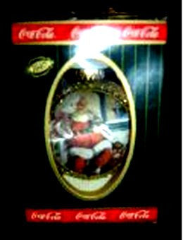 Coca Cola Glass Ball Christmas Ornament