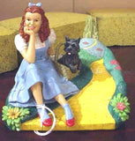 Wizard Of Oz Yellow Brick Road Figurines By Kurt Adler - Set Of 4