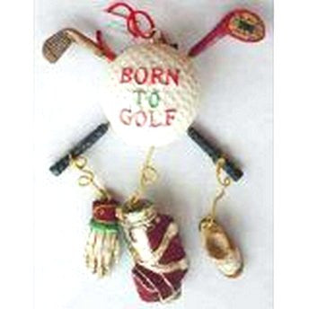 Born to Golf Dangle Ornament