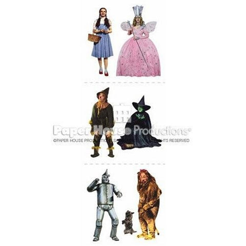 Wizard Of Oz Stickers On Long Sheet 6 Small Characters