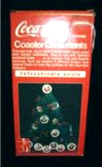 Coca Cola Coaster Christmas Ornaments