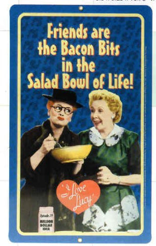 Lucy Salad Bowl Metal Sign