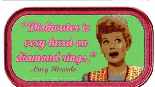 Lucy Dishwater Magnetic Tin Sign