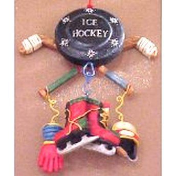 Hockey Puck Dangle Ornament
