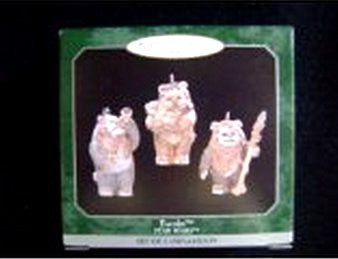 Ewoks Set of 3 Mini Star Wars Hallmark Christmas Ornament