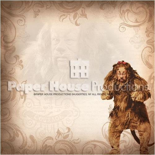 Wizard Of Oz Scrapbooking Paper - New Cowardly Lion