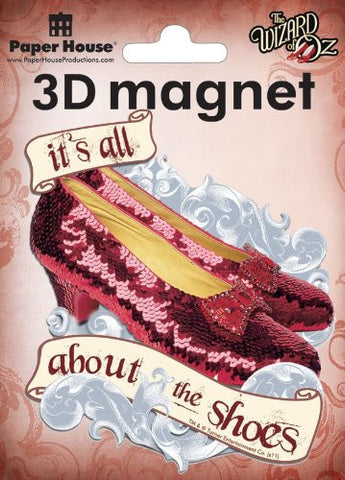 Oz-Ruby Slippers 3D Magnet