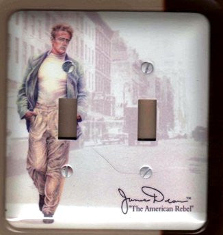 James Dean Double Light Switch Plate
