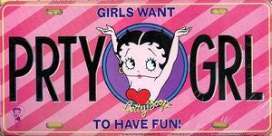 Betty Boop License Plate Party Girl