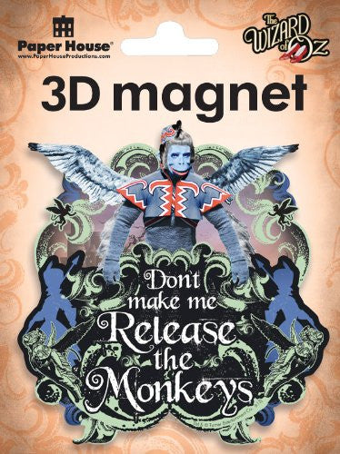 Flying Monkey 3D Magnet