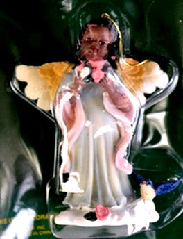 African American Angel Ornament - Blue