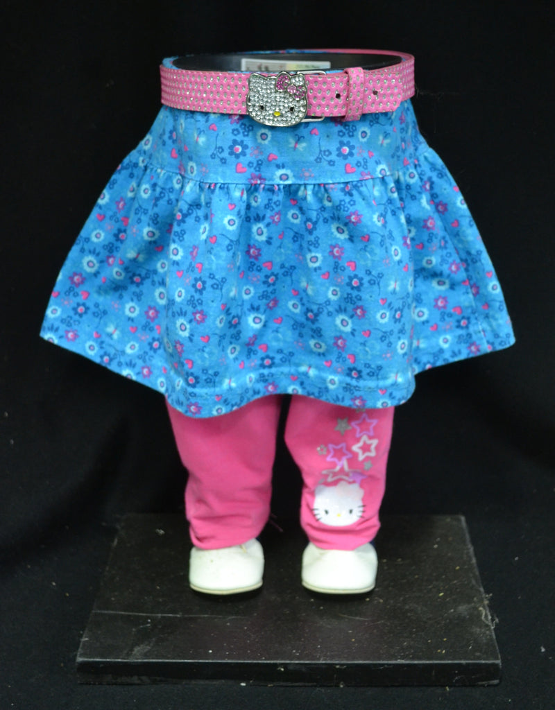 Hello Kitty with Blue Skirt and Pink Pants Bling Belt Pot Pant Planter