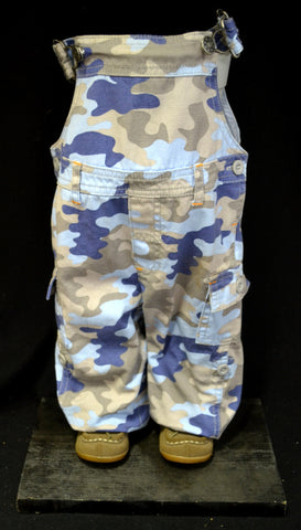 Blue Camo Overalls Pot Pant Planter