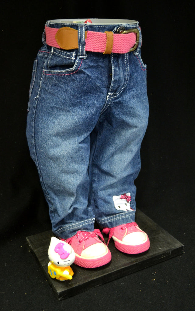 Hello Kitty Jeans with Kitty Bobble Head Pot Pant Planter