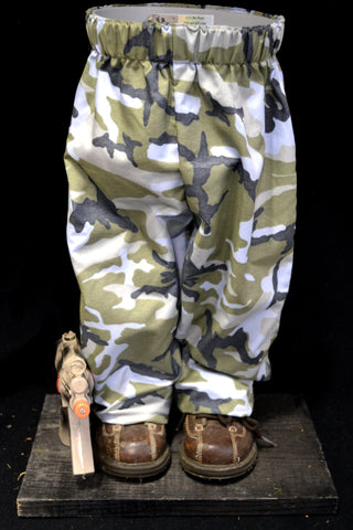 Blue Camo Pants with Toy M-4 Pot Pant Planter