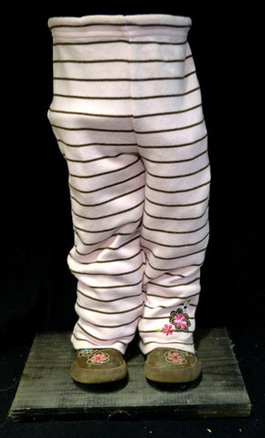 Pink and Brown Striped Pants w/ Flower and Matching Shoes Pot Pant Planter