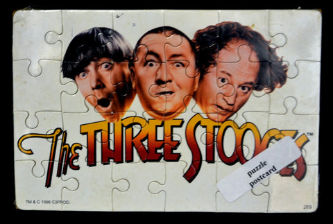 Three Stooges All 3 Puzzle Postcard