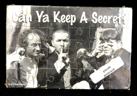 Three Stooges Can You Keep a Secret Puzzle Postcard