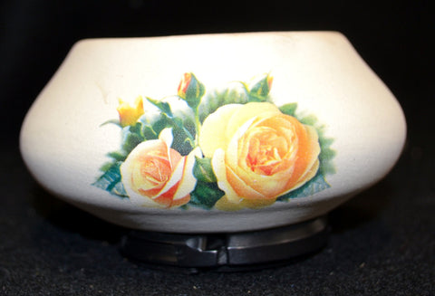 Yellow Rose Candle Holder