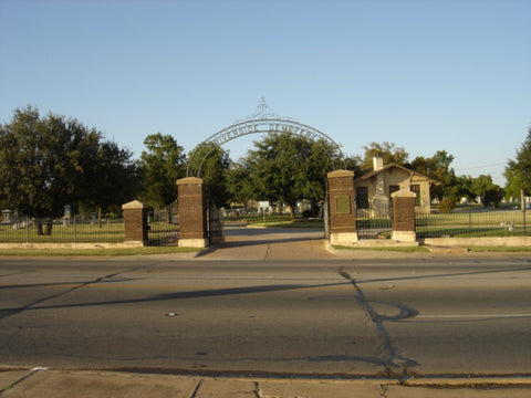 Riverside Cemetery Wichita Falls, Texas Headstone Photos on CD