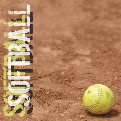 Softball Scrapbook Paper