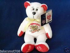 I Love Lucy 50th Anniversary Bear White
