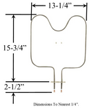 Model TC-679: Brown 184-2E30 Equivalent Range/Oven Bake Replacement Element, 2,000W @ 240V
