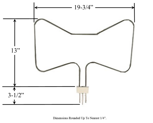 Model TC-649: Frigidaire 5300210972 Equivalent Range/Oven Bake Replacement Element, 2,500W @ 250 V