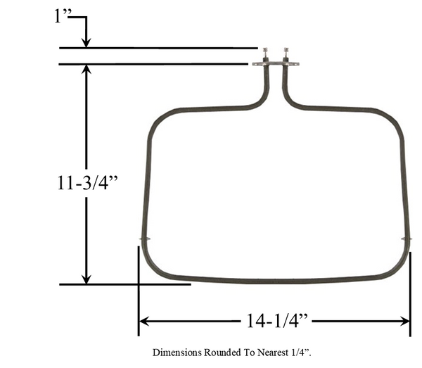 Model TC-825: Modern Maid / Whirlpool 7406166 Range/Oven Bake Replacement Element,1,750W @ 250V