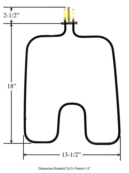 Model TC-969: Frigidaire 09950891 Equivalent Range/Oven Bake Replacement Element, 2,700W @ 250V