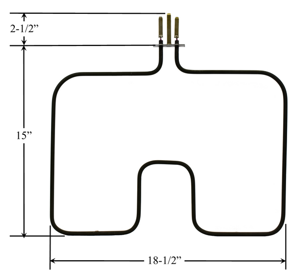 Model TC-975: Frigidaire 5309950888 Equivalent Range/Oven Broil Replacement Element, 2,700W @ 250V