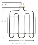 Model TC-986: G.E. WB45X5020 Equivalent Range/Oven Broil Replacement Element, 3,600W @ 240V
