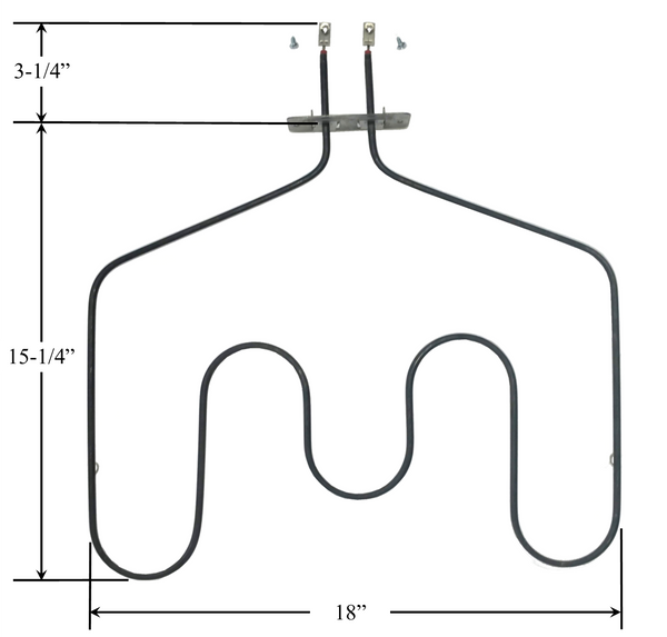 Model TC-44X10013: GE WB44X10013 Equivalent Range/Oven Bake Replacement Element, 2,500W/3,400W @ 208W/240V