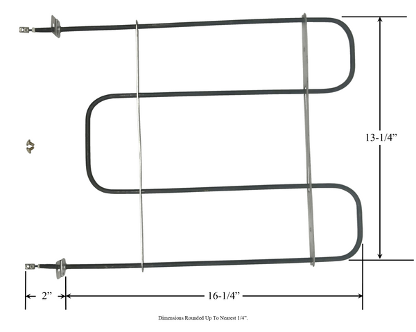 Model TC-579: Whirlpool RTU Range/Oven Broiler Replacement Element, 2,250/3,000W @ 208/240V