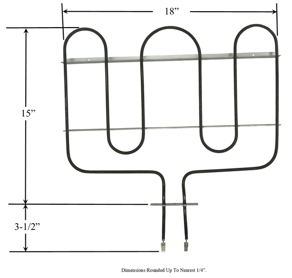 Model TC-74011117: Whirlpool-Maytag 74011117 Range/Oven Broil Replacement Element, 3,600W @ 240V