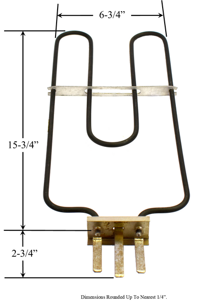 Model TC-4870: Whirlpool CH4870 Equivalent Range/Oven Vintage Broil Replacement Element, 1,500W @ 240V