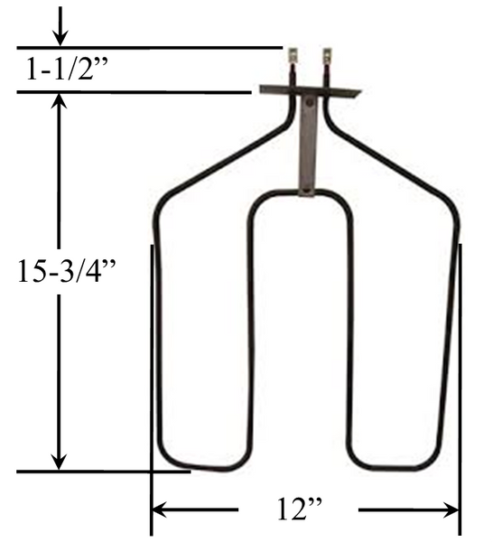Model TC-44X136: GE WB44X136 Equivalent Range/Oven Bake Replacement Element, 2,585 W @ 250 V