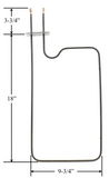 Model TC-1040: Kelvinator 1303549 / Whirlpool CH1040 Equivalent Range/Oven Bake Replacement Element, 1,500W @ 240V