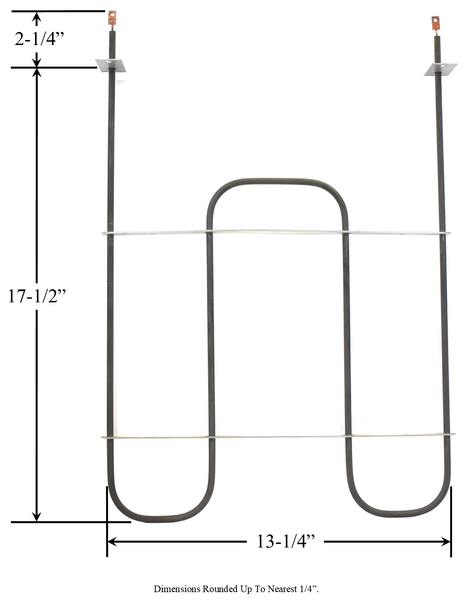 Model TC-1110: Enterprise 150609 / Whirlpool CH3805 Equivalent Range/Oven Broil Replacement Element, 3,000W @ 250V
