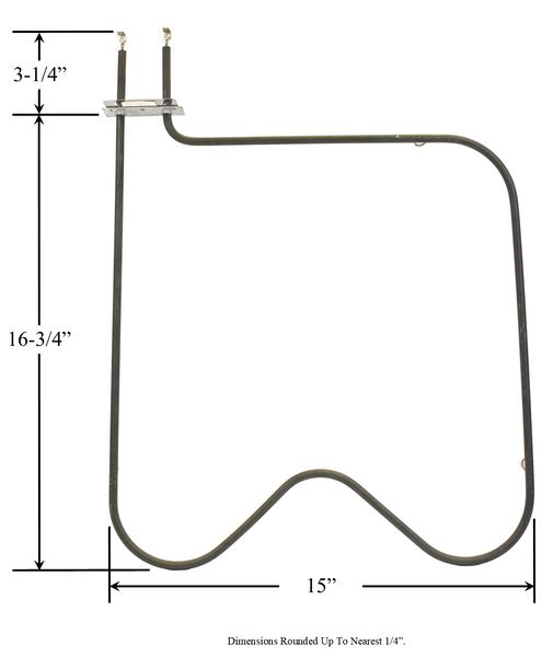 Model TC-2833: Kenmore 7622 Equivalent Range/Oven Bake Replacement Element, 2,000W @ 250V